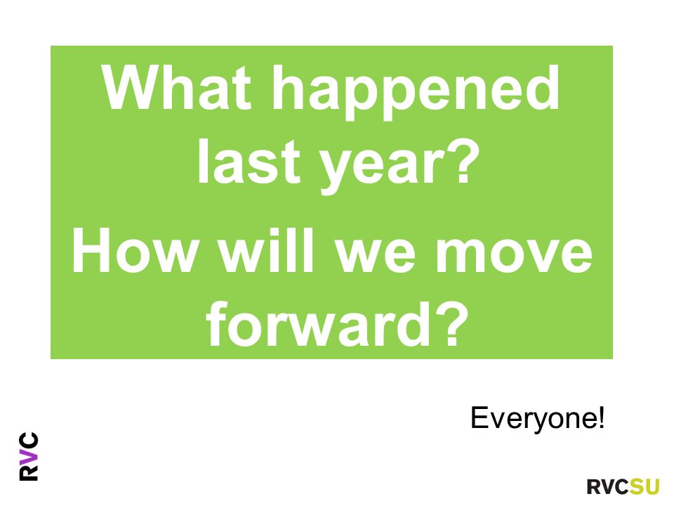 Everyone! Ms Fiona Nouri Advice Centre Manager What happened last year? How will we move forward?