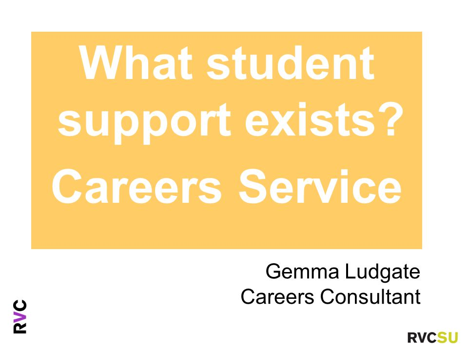 Gemma Ludgate Careers Consultant Ms Fiona Nouri Advice Centre Manaer What student support exists.