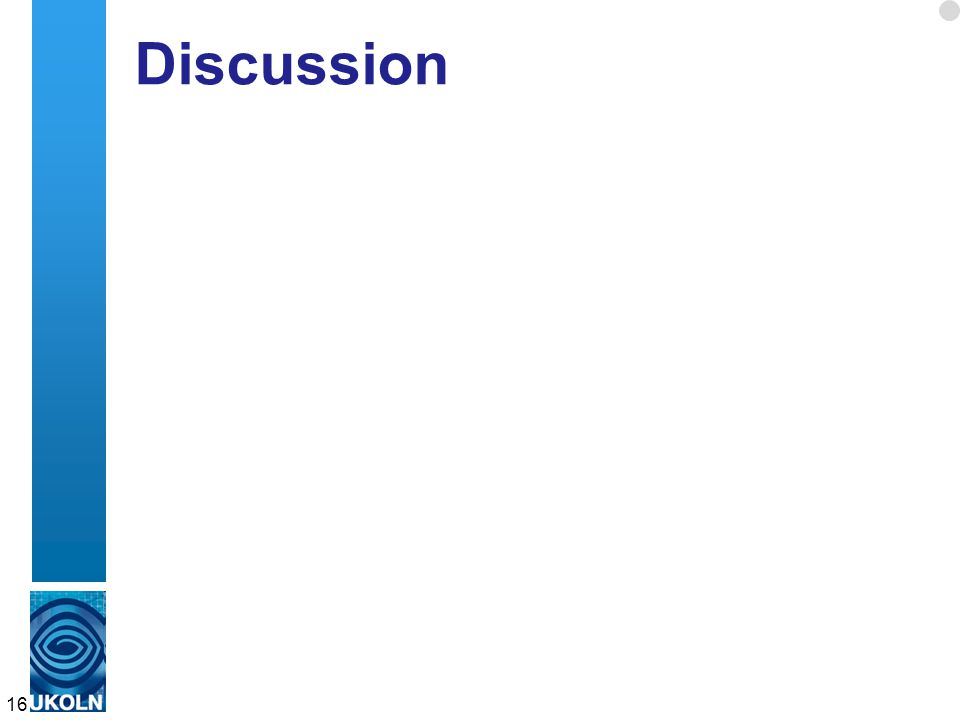 Discussion 16