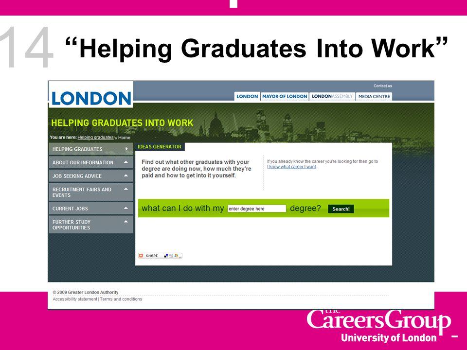 14 Helping Graduates Into Work