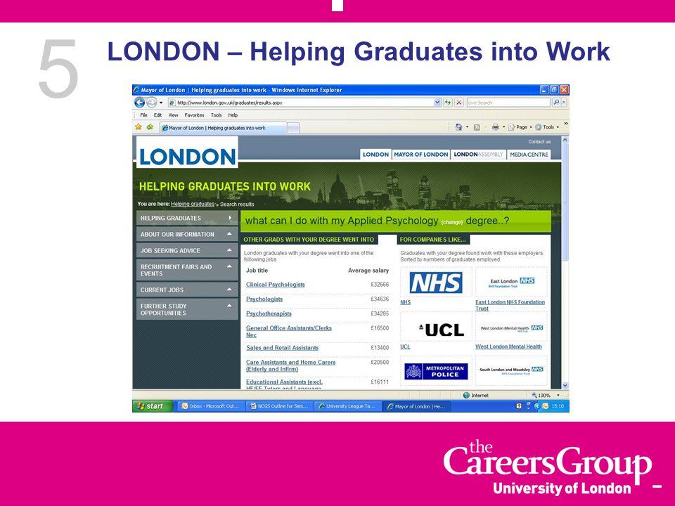 5 LONDON – Helping Graduates into Work