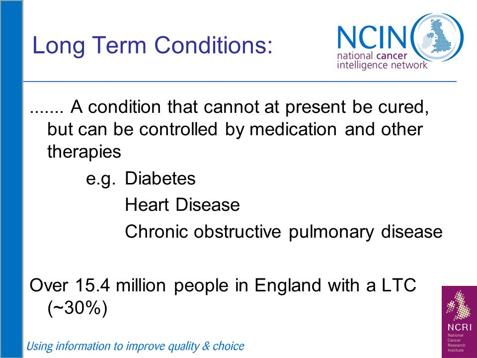 Commissioning considerations Long term conditions (Ageing population) Inc.