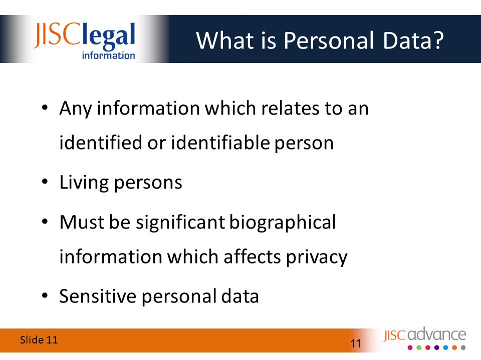 Slide 11 11 What is Personal Data.