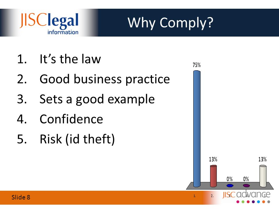 Slide 8 Why Comply.