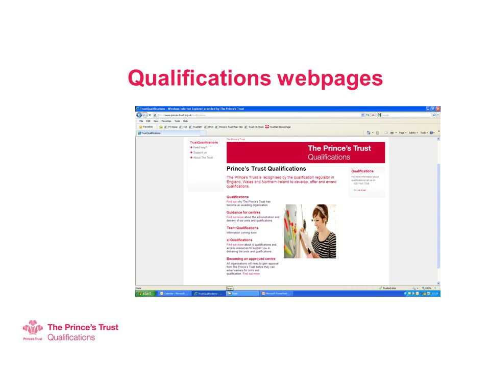 Qualifications webpages