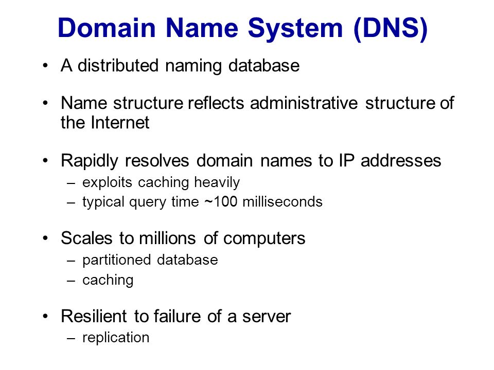 DNS name resolution a.root-servers.net (root) ns0.ja.net (ac.uk) dns0.dcs.qmw.ac.uk (dcs.qmw.ac.uk) alpha.qmw.ac.uk (qmw.ac.uk) dns0-doc.ic.ac.uk (ic.ac.uk) ns.purdue.edu (purdue.edu) uk purdue.edu ic.ac.uk qmw.ac.uk...