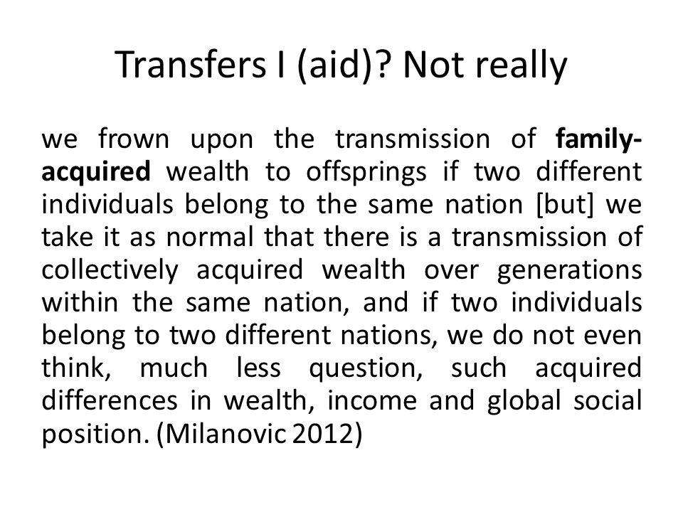 Transfers I (aid).