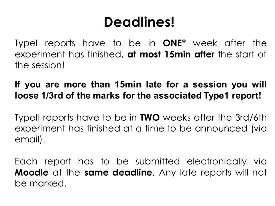 Deadlines.