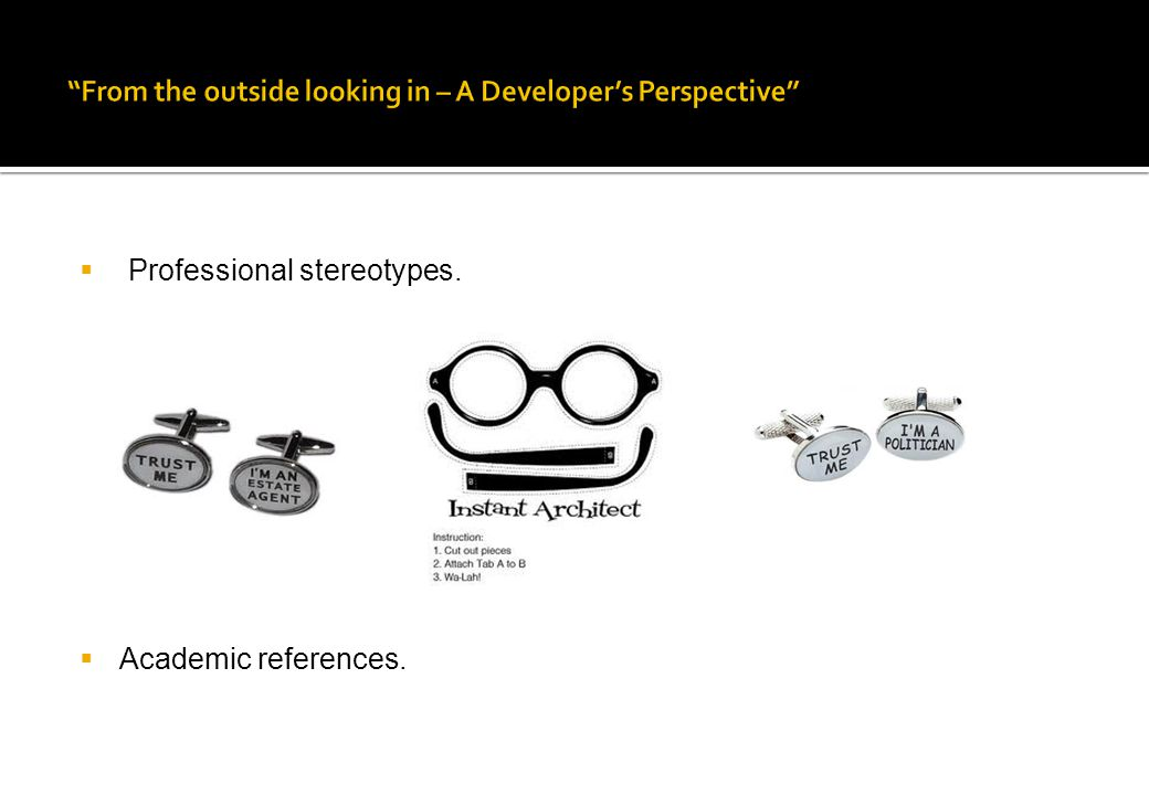  Professional stereotypes.  Academic references.