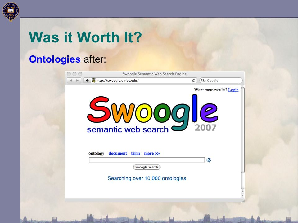 Was it Worth It? Ontologies after: