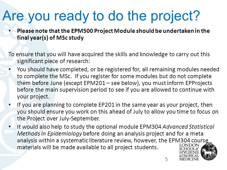 Are you ready to do the project.