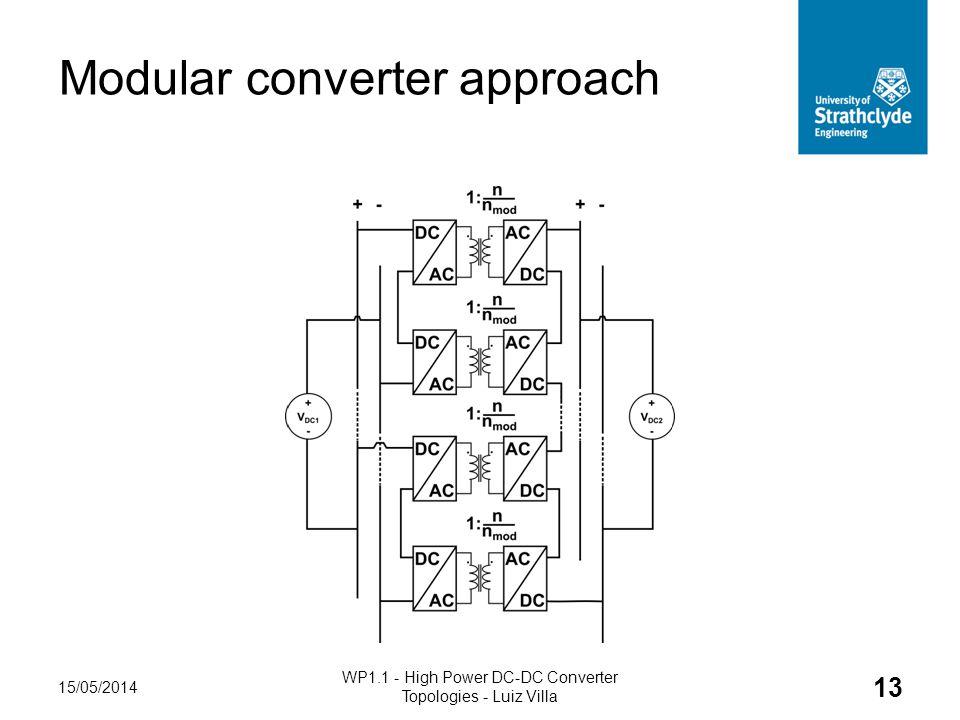Modular converter approach 15/05/2014 WP1.1 - High Power DC-DC Converter Topologies - Luiz Villa 13