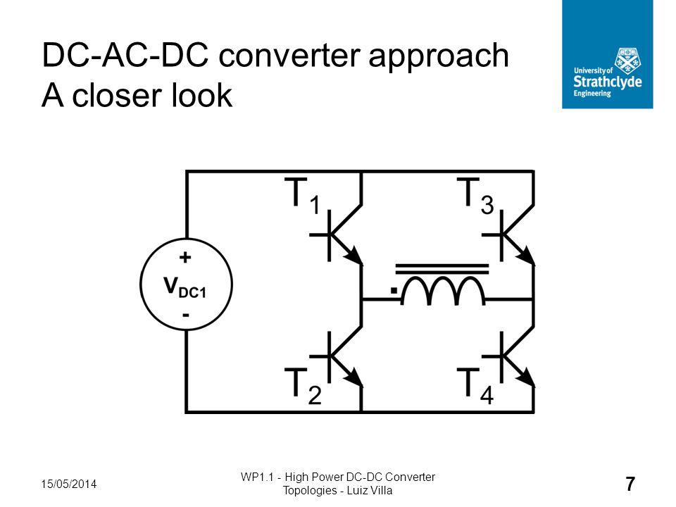 DC-AC-DC converter approach A closer look 15/05/2014 WP1.1 - High Power DC-DC Converter Topologies - Luiz Villa 7