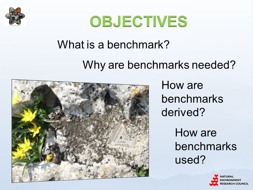 What is a benchmark. Why are benchmarks needed. How are benchmarks derived.