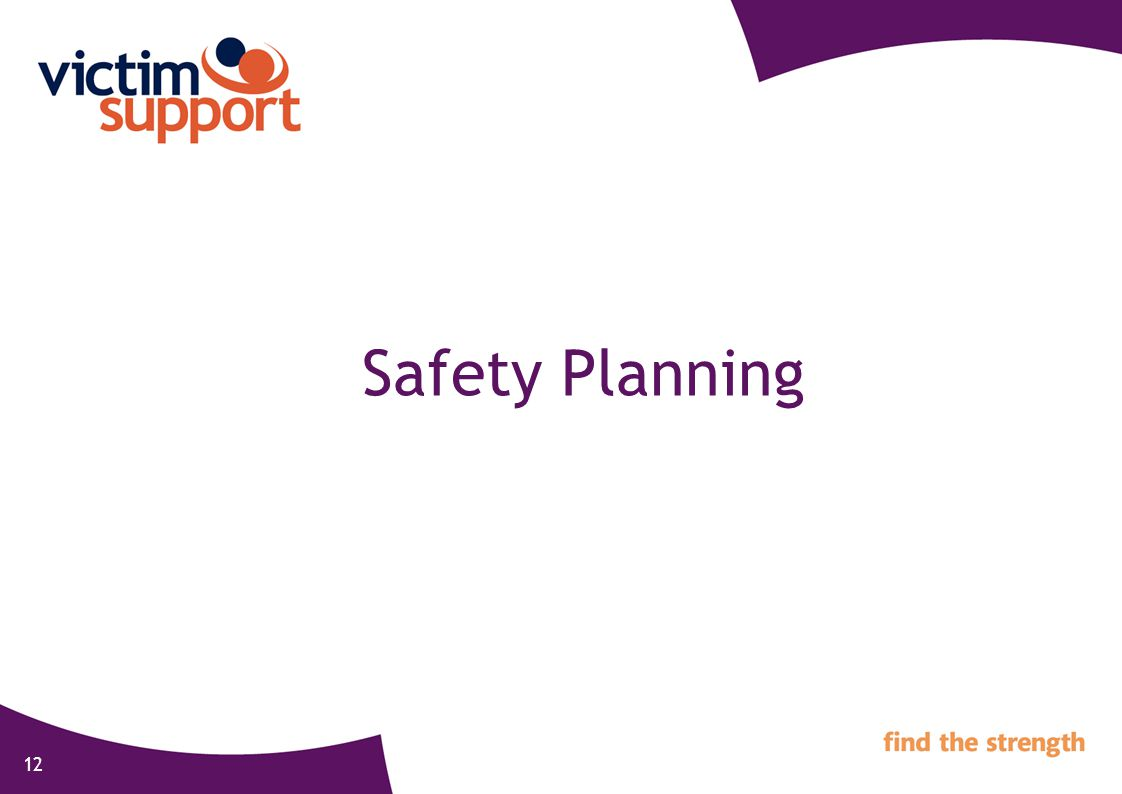 12 Safety Planning