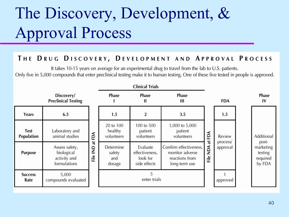 40 The Discovery, Development, & Approval Process