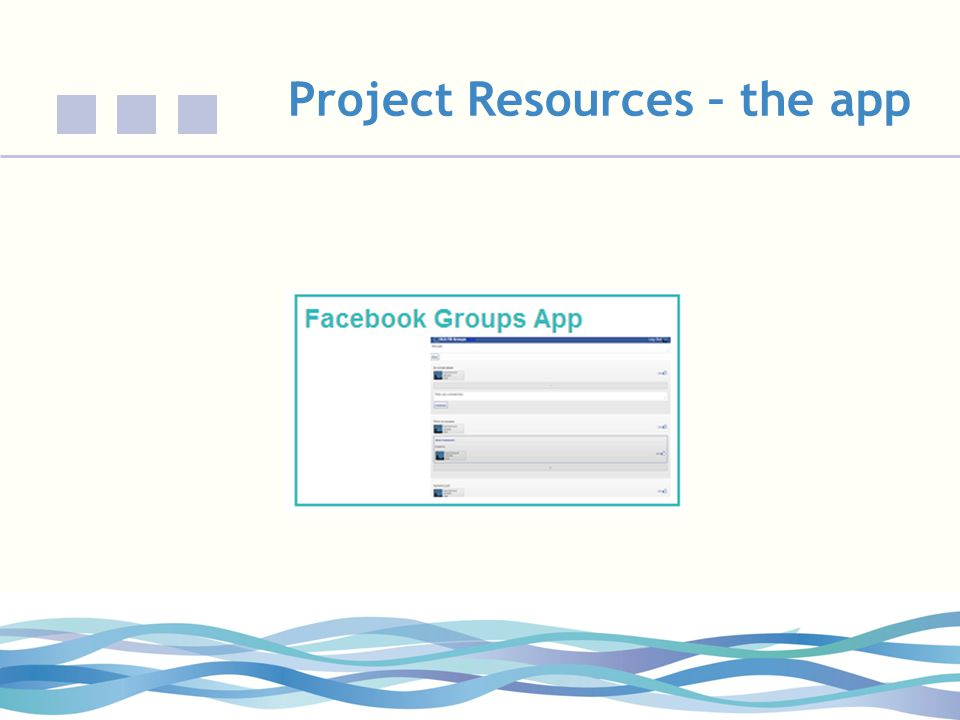 Project Resources – the app