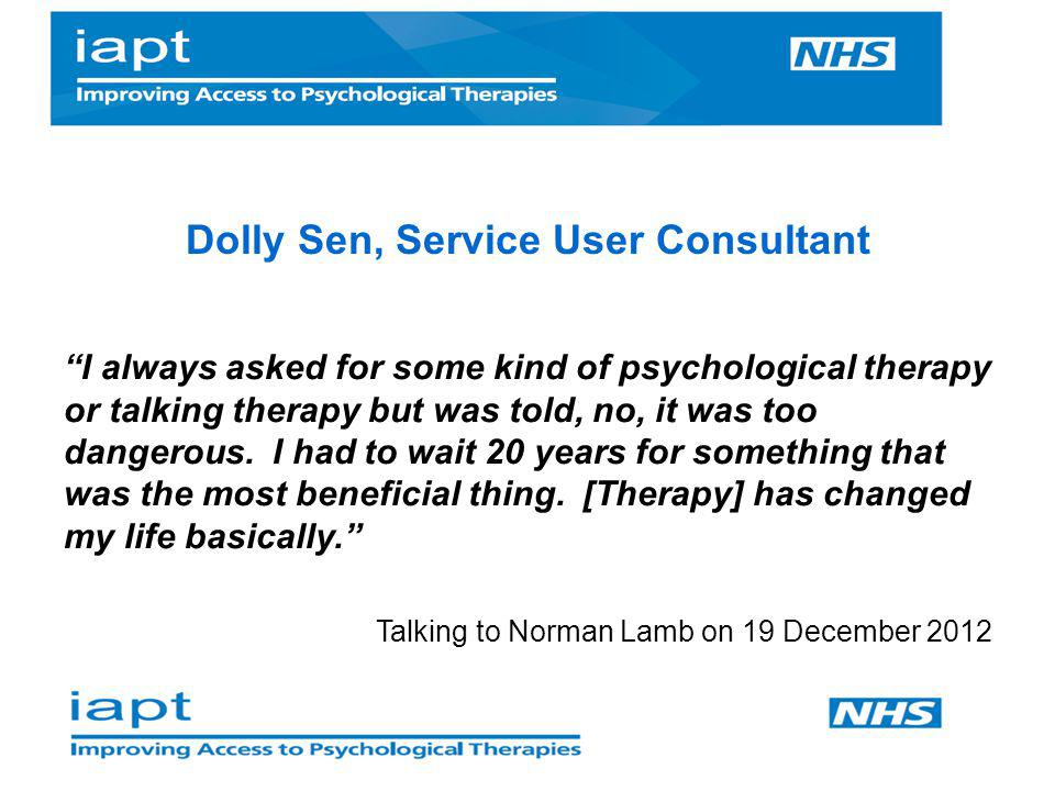 Psychological treatments are not a quasi - medication =