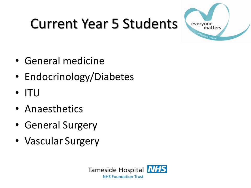 What we offer 1:1 Consultant / student ratio Weekly generic consultant teaching aimed at exam topics in the blocks before the exempting exam and core competencies after Additional weekly ward based teaching Fully equipped skills lab Full practice OSCE in December