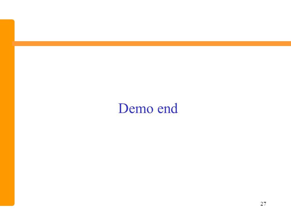 27 Demo end