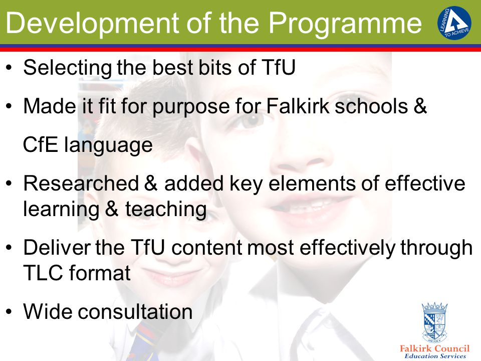 Programme Content 19 units so far – hub/starter sessions Deep Understanding High order skills 1 & 2 Connected Learning Questioning Creating a positive learning environment