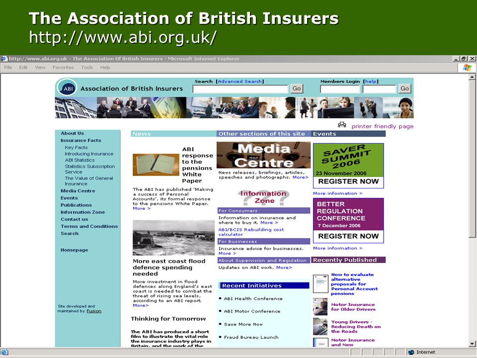 Top Tips for FS information sources Tuesday 28th November 2006 © Fenton Research Ltd The Association of British Insurers