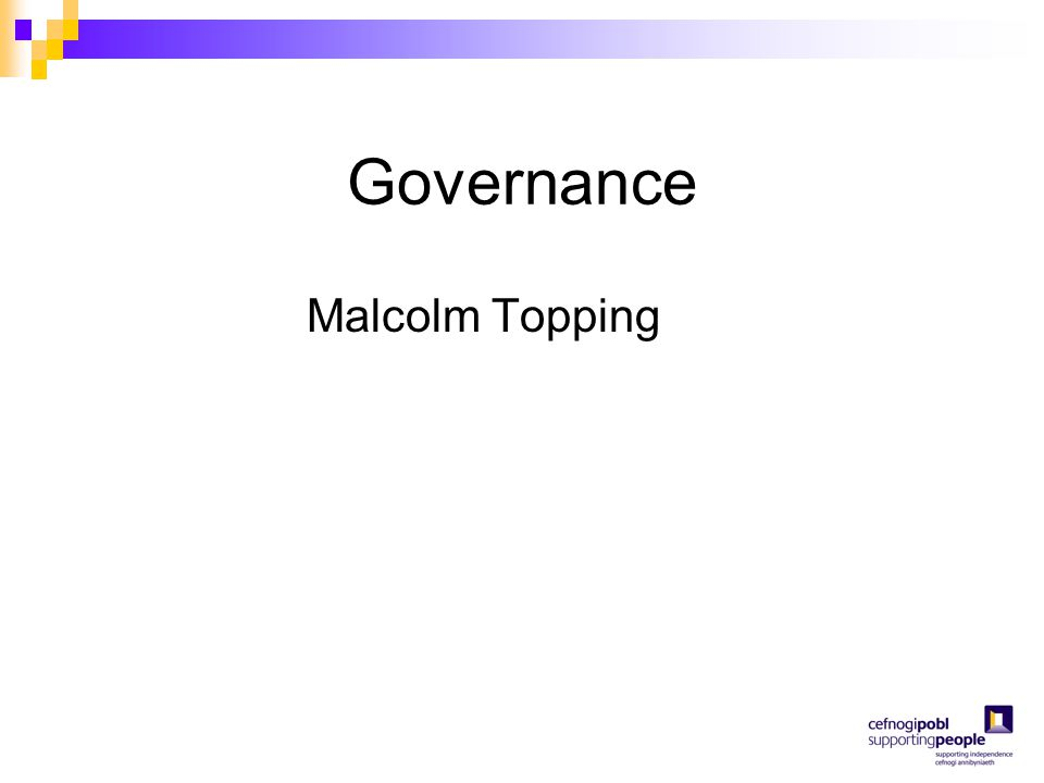 Governance Malcolm Topping