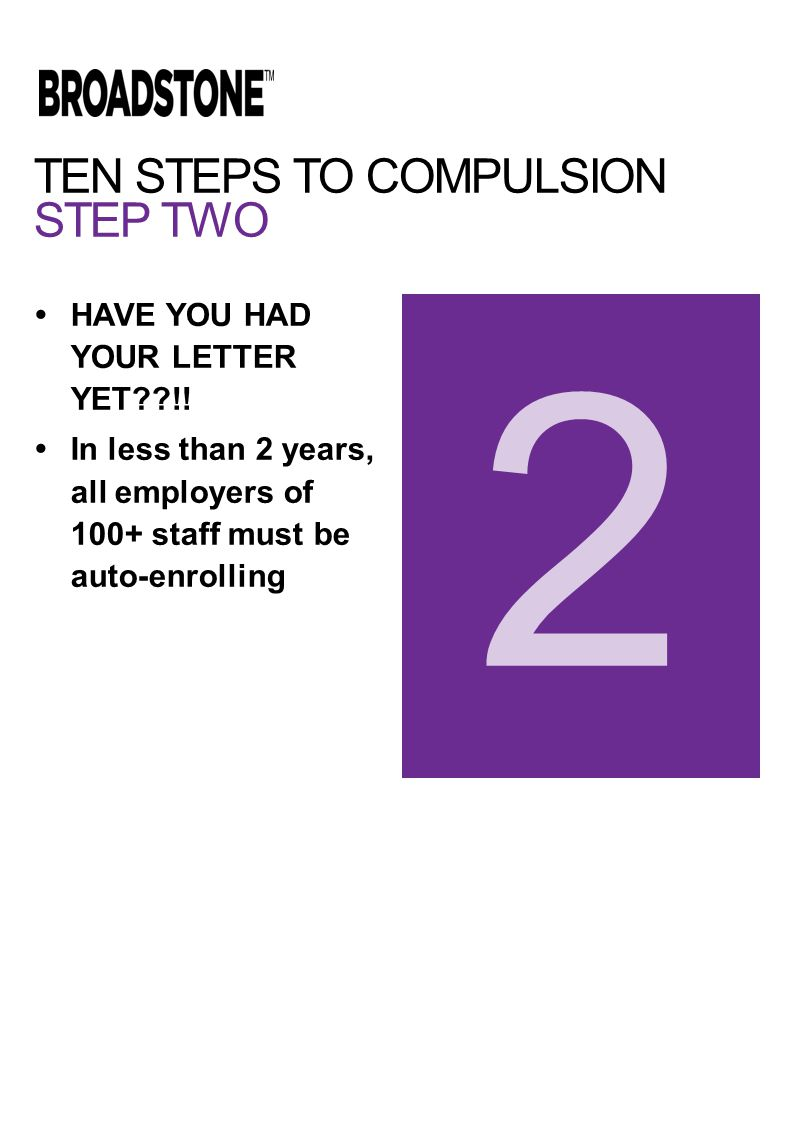 TEN STEPS TO COMPULSION STEP TWO  HAVE YOU HAD YOUR LETTER YET??!.