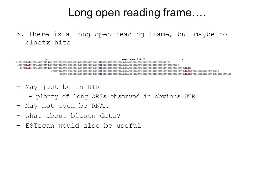 Long open reading frame…. 5.