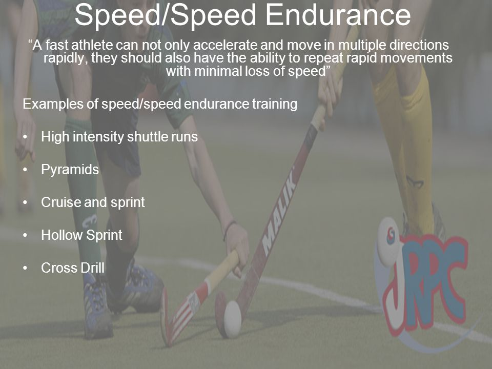 """Speed/Speed Endurance """"A fast athlete can not only accelerate and move in multiple directions rapidly, they should also have the ability to repeat rap"""