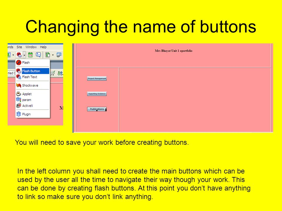 Creating other pages When you are happy with the template or main page you will then need to create the other pages.