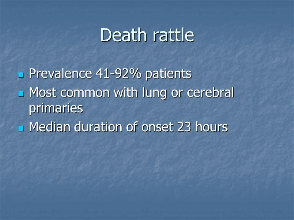 Death rattle How do relatives interpret it.