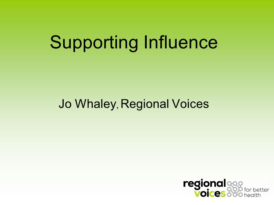 About Regional Voices