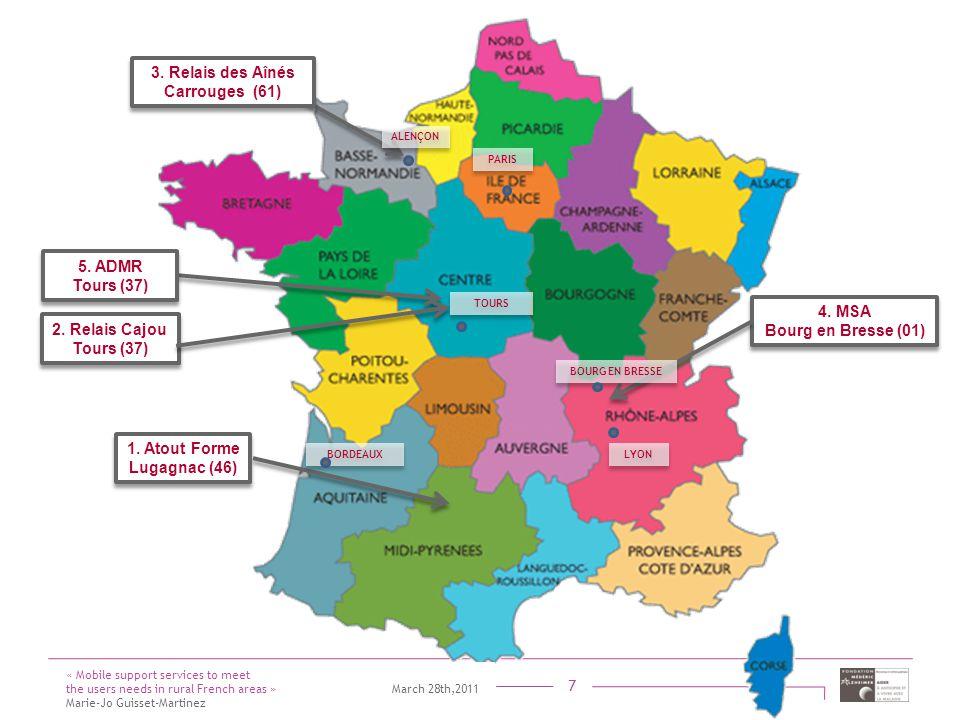 Titre présentation Sous titre Intervenant 7 4. MSA Bourg en Bresse (01) 4. MSA Bourg en Bresse (01) BOURG EN BRESSE LYON « Mobile support services to