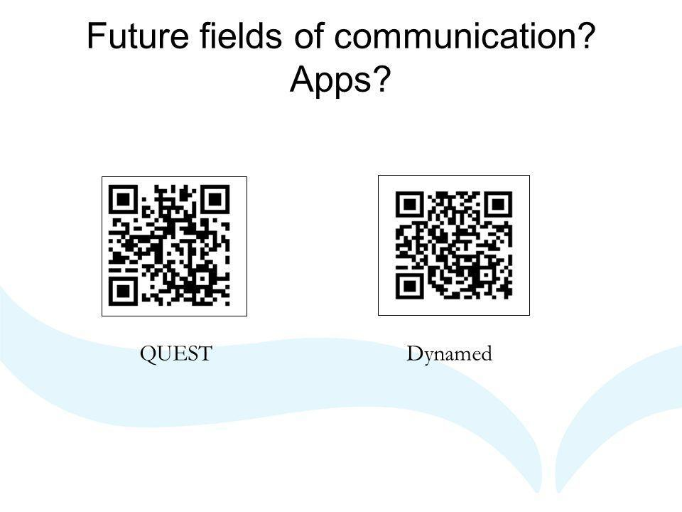 Future fields of communication Apps QUESTDynamed