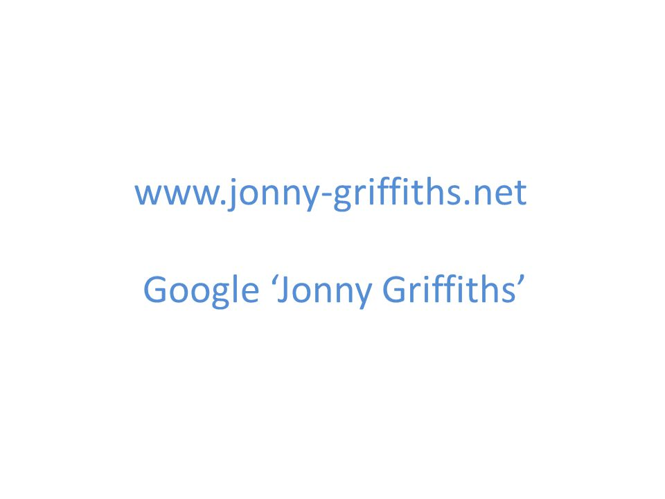 Google 'Jonny Griffiths'