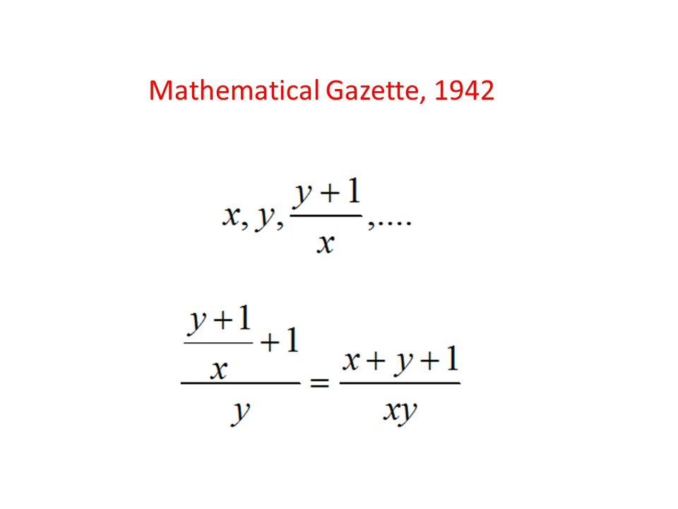 Mathematical Gazette, 1942