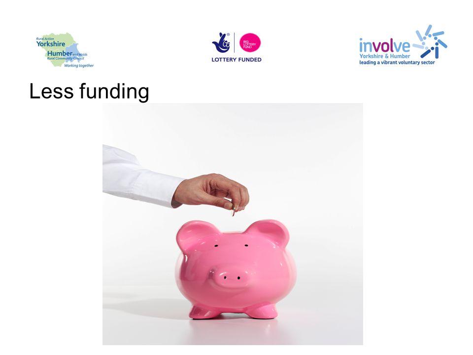 Less funding