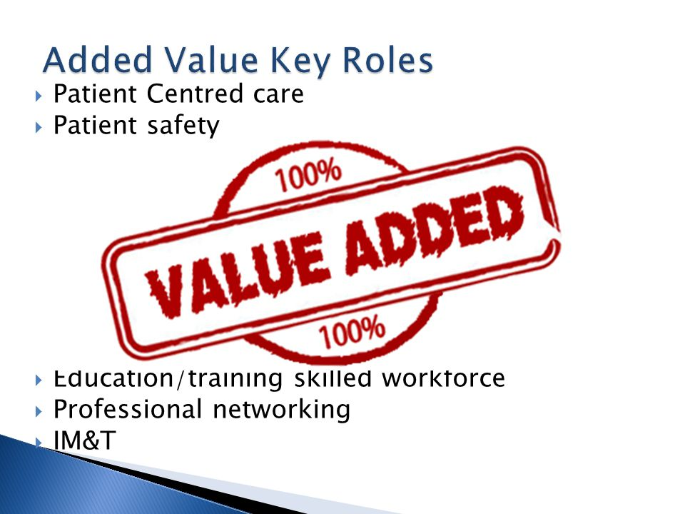  Patient Centred care  Patient safety  Strategic management and planning  Operational management  HR management  Clinical leadership  Resource management and efficiency  Clinical effectiveness/ evidence based  Relevant performance management  Education/training skilled workforce  Professional networking  IM&T
