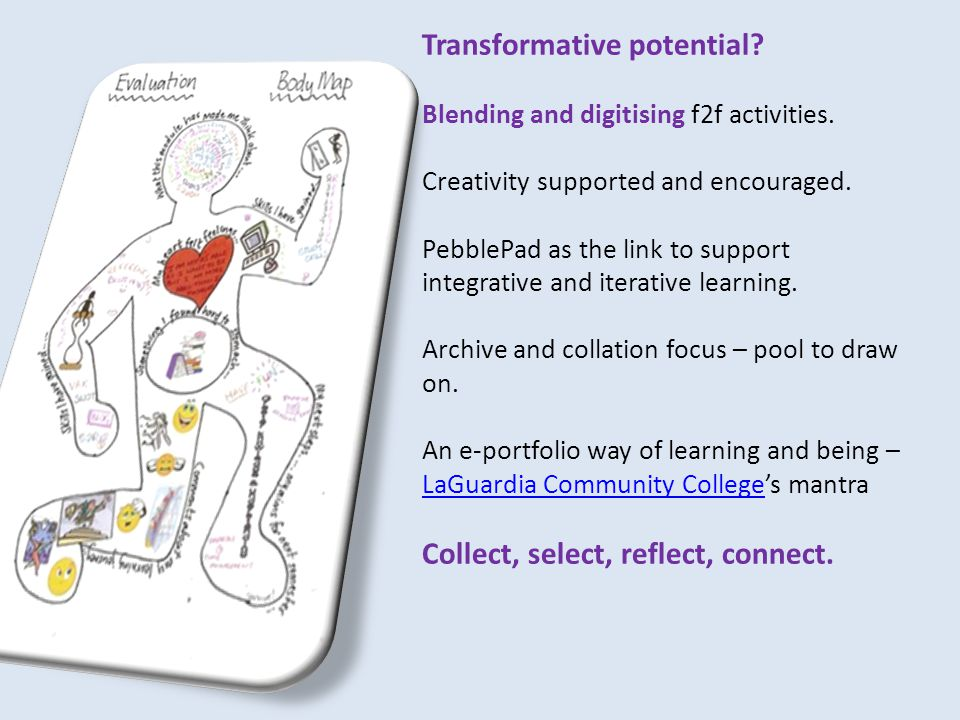 Transformative potential. Blending and digitising f2f activities.