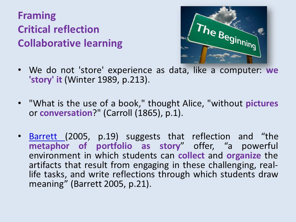 Learning waves – reflective writing It was built upon constantly...
