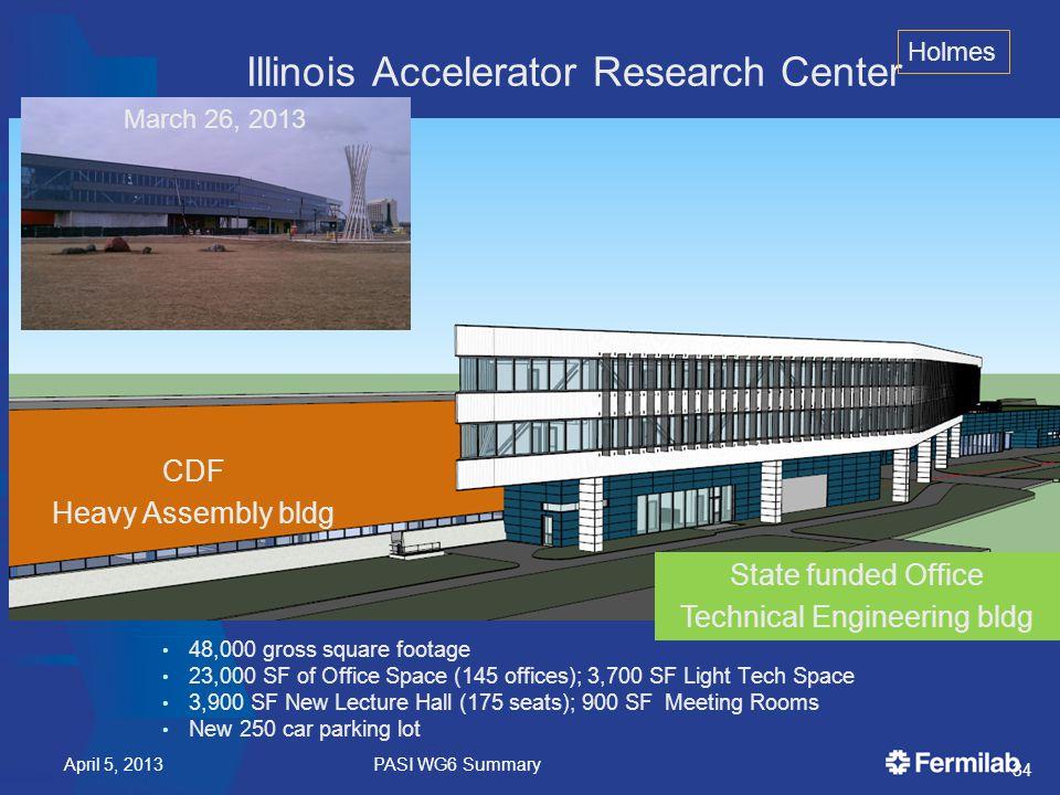 Steady Progress on the IARC physical plant.