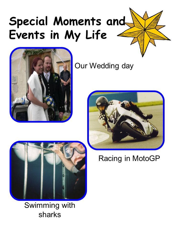 Our Wedding day Swimming with sharks Racing in MotoGP Special Moments and Events in My Life