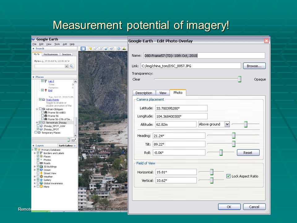 Measurement potential of imagery.