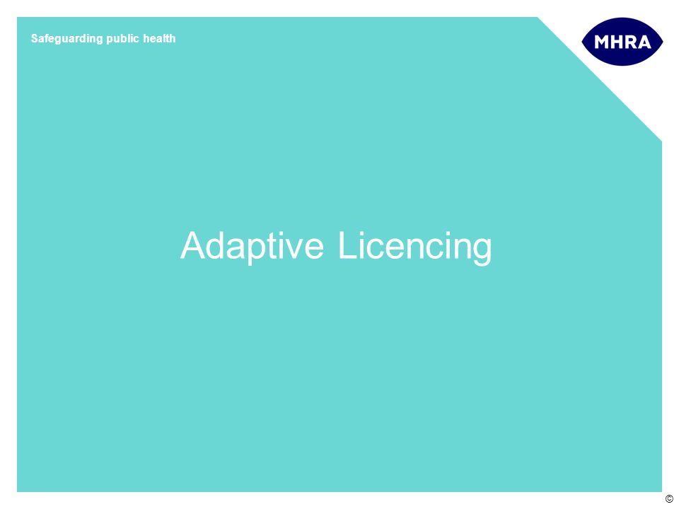 Slide 9 Oct 15, 2012 Adaptive Licencing Workshop at the Wellcome Trust © Adaptive Licencing: EU / UK.