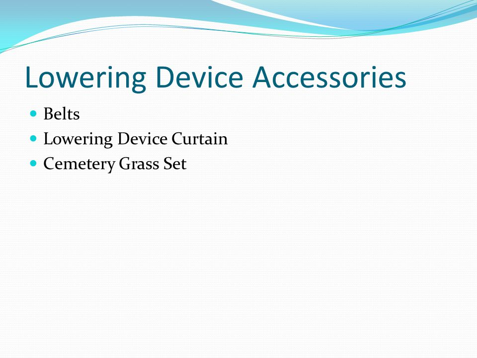 Lowering Device Accessories Belts Lowering Device Curtain Cemetery Grass Set