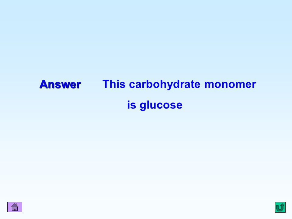 Q1 Answer Answer This carbohydrate monomer is glucose