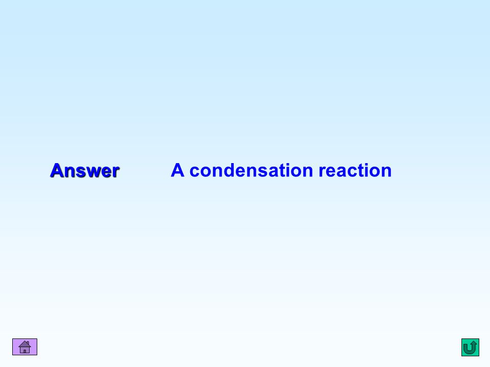 Q8 Answer Answer A condensation reaction