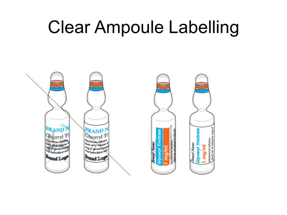 Clear Ampoule Labelling