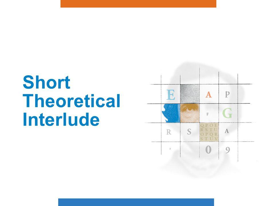 Short Theoretical Interlude